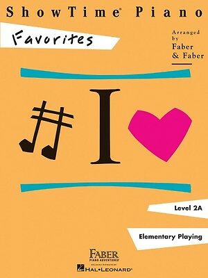 ShowTime Favorites Level 2A Faber Piano Adventures Book NEW 000420144