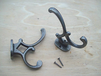 10 x Old English Victorian Vintage Style antique Cast Iron hat and & coat Hook