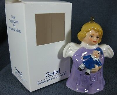 Goebel Annual Angel Bell Ornament 1994 Clown Purple Boxed Germany