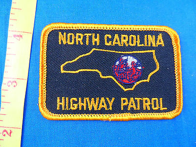 SMALL HIGHWAY PATROL NORTH CAROLINA CLOTH PATCH -EMBROIDERED - FREE US SHIPPING