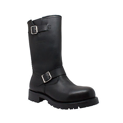Mens Engineer Leather Riding Motorcycle Biker Boots SIZES 7 -14  Heavy Duty 1440