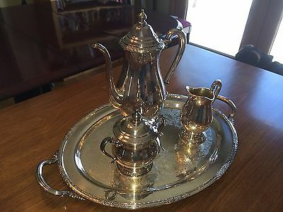4 Piece Camille Silver Plate Coffee Service by International Silver Company