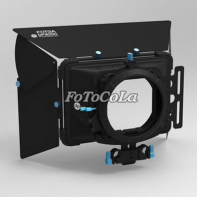 FOTGA DP3000 Pro DSLR matte box sunshade w/ donuts filter holders f 15mm rod rig