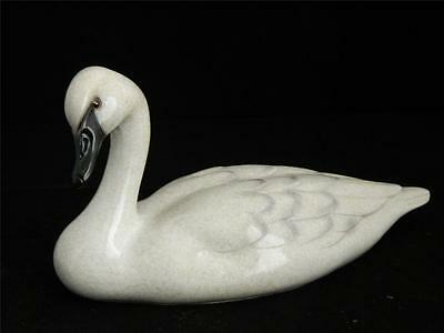 White Swan Floating Swimming Big Sky Carvers Stonecast Sculpture NIB New 2013