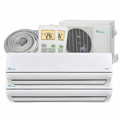 Mini Split Heat Pump - Dual Zone Air Conditioner - 28000BTU (2x12000BTU)