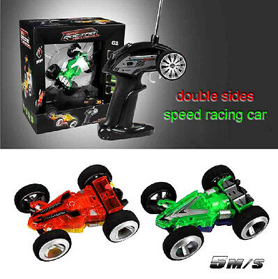 1:32 High Speed Radio Remote control mini RC Racing buggy stunt car two-sided