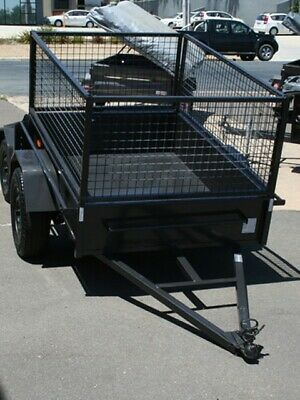 6x4 Box Trailer with 600mm Mesh Cage