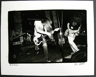 MUDHONEY 1990 ORG Signed CONCERT PHOTOGRAPH Charles Peterson SUB POP Mark Arm #3