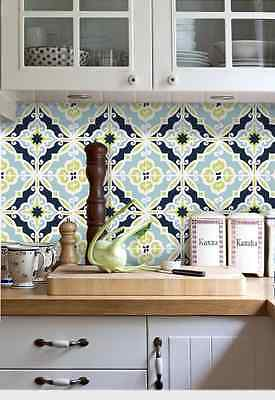 Wall Tile Sticker Kitchen Bathroom Decorative Decal : F002 Lime