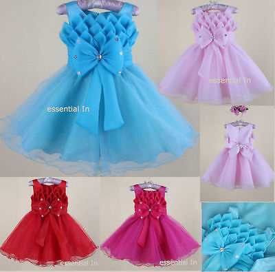 Baby Girls Flower Formal Wedding Bridesmaid Party Christening Dress  AGE 2-8 YRS