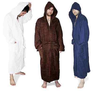 UTOPIA TOWELS HOODED COTTON TERRY BATH ROBES FOR MEN AND WOMEN