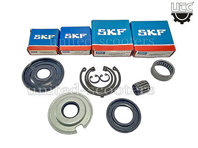 Vespa VBA VLB VBB Sprint Engine Bearings Oil Seals Circlips SKF Genuine V1510