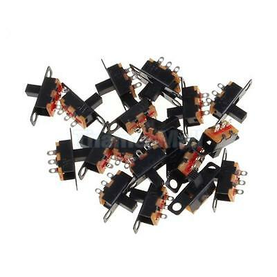 20pcs Black Small Size SPDT Slide Switch On-Off 3-Pin PCB 5V 0.3A DIY Projects