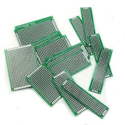 20 Pcs 4 Different Size Double-Side Prototype PCB Panel Universal Circuit Board