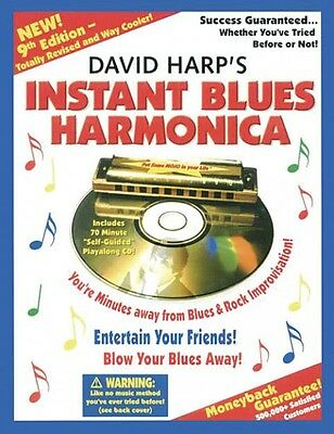 David Harp's Instant Blues Harmonica 9th Edition Book and CD NEW 014016094