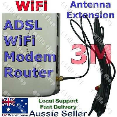 Antenna RP-SMA Extension Cable 2.85 - 3 meters for WiFi Router