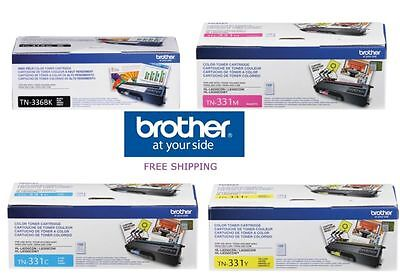 Genuine Oem Brother Tn336Bk Tn331C Tn331Y Tn331M Toner Set (4-Pack) Brand New