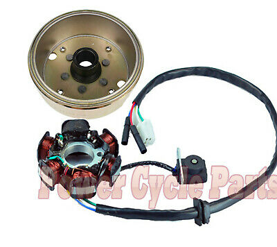 GY6 125cc 150cc Stator Magneto Flywheel for  6 Coil Pole + Free Pick up Coil