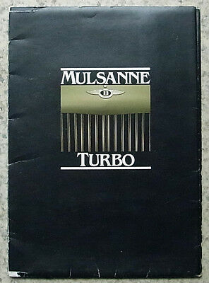 BENTLEY MULSANNE TURBO Car Press Media Pack Photos 1982