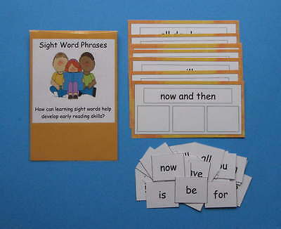 Teacher Made Literacy Center Educational Resource Game Sight Word Phrases