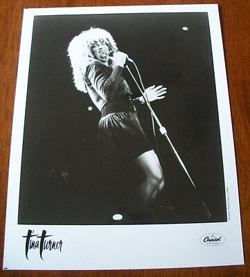Vintage Tina Turner 8x10 B&W Press Photo Capitol Records 1987