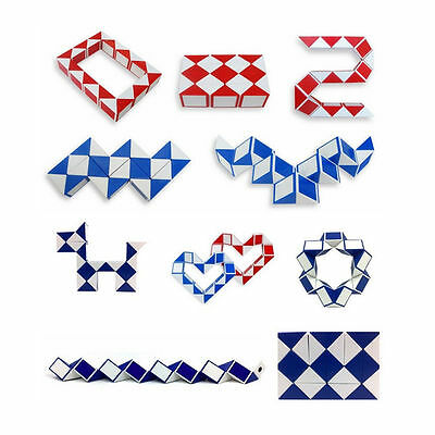 Sale Magic Snake Shape Toy Game 3D Cube Puzzle Twist Puzzle Toy Gift