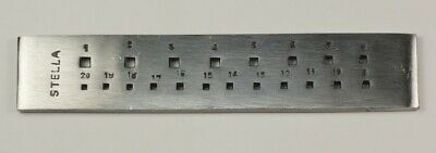 NEW jewellers drawplate square 20 holes draw plate jewellery making crafts wire