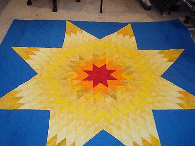 """LIFE GIVER"" STAR QUILT TOP - Not Quilted"