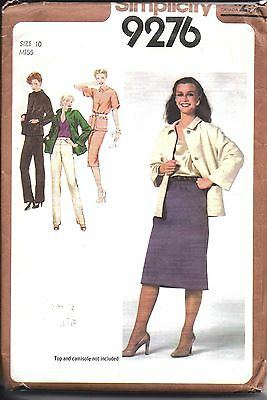 6539 UNCUT Vintage Simplicity Sewing Pattern Boys Unlined Jacket Pants 1970/'s FF