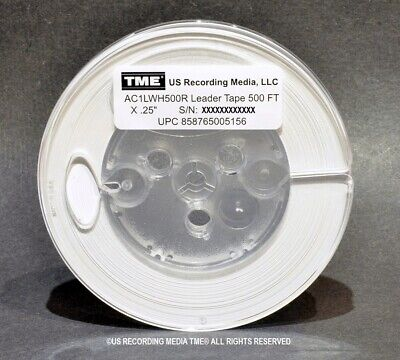 """Open Reel Audio Leader Tape RED 1//4/"""" X 200 Ft ON 3/"""" Core 1.5 Mil"""