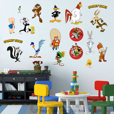 Jungle Animals Educational Wall Stickers Kids Nursery Baby Room Decor Decal Art