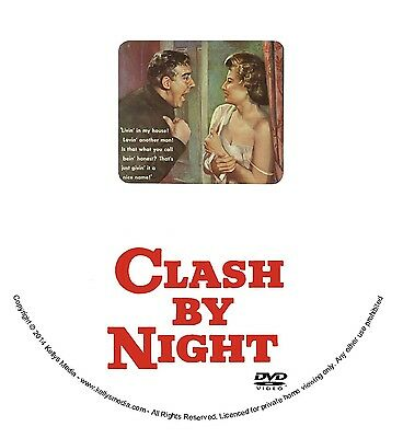 Clash By Night (1952) Stanwyck/Douglas/Ryan/Monroe (F. Lang) Film Noir/Drama/Dvd