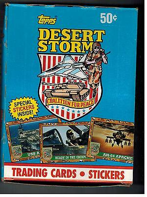UNOPENED TOPPS DESERT STORM  BOX 36 PACKS COLLECTOR CARDS STICKERS