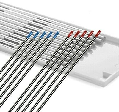 5 Thoriated (Red) & 5 Lanthanated (Blue) 3/32x7 TIG Tungsten Electrode US Seller