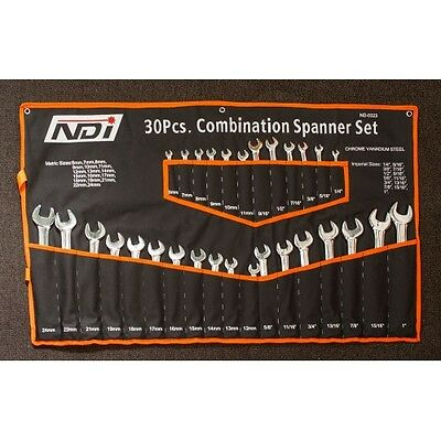 30 PCS Double Combination Spanners Set Imperial + Metric  ND-0323