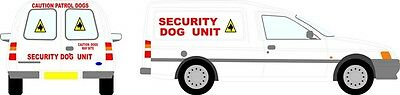 Reflective Dog Security Full vehicle Sticker kit  X small van / escort /astra