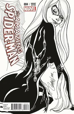 AMAZING SPIDER-MAN 4 VOL 3 CONQUEST J SCOTT CAMPBELL SKETCH VARIANT NM 1st SILK