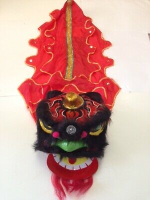 Chinese New Year Lion Dragon Head Dance Performance 13""