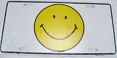 Smiley Face Metal License Plate Happy Smile Sign L063