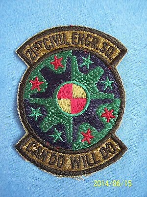 US Air Force 21st Civil Engineering S.Q. Subdued Uniform Patch USAF Military War