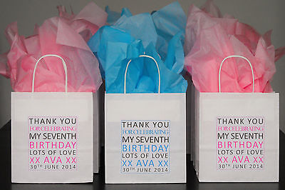 Personalised Childrens Party Bags Thank You Anniversary Birthday Gift