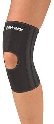 Mueller 6472A Elastic Knee Stabilizer Brace Sleeve Support Black Lg/XLg