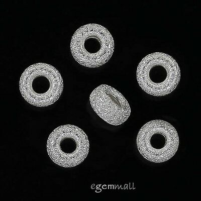 10 Gold Plated Sterling Silver Stardust Finish Rondelle Heishi Beads 4.4mm 99203
