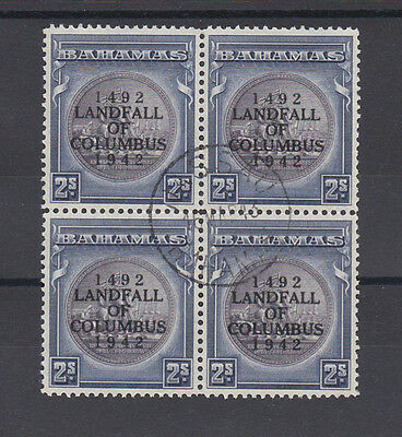 Bahamas 1942 2/- Slate-Purple & Indigo In Block Sg 172 Fine Used.