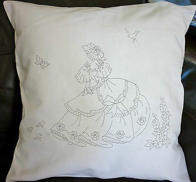 Freestyle Embroidery printed Cushion Cover crinoline lady to embroider CSOO92
