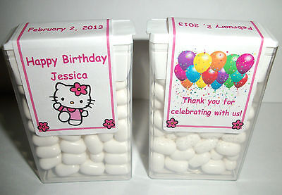 14 Hello Kitty  Birthday Party Favors Tic Tac Labels ~ Personalized