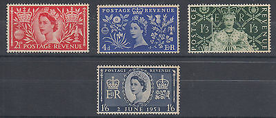 Great Britain Sc 313-316 MNH. 1953 QEII definitives cplt, VF appearing