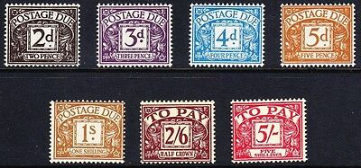 Great Britain #j48-54 Postage Due Mh/nh (#j48, 51, &52 Are Nh), Cv$526.00 Fz42