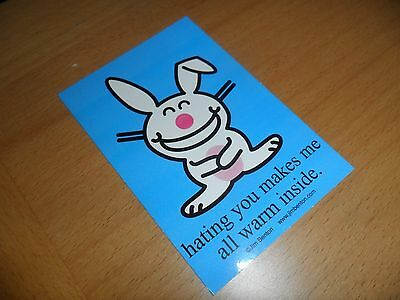 Happy Bunny sticker / hating you makes me  Great for Notebooks binder backpack