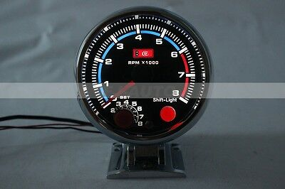 "3.75""  Rpm White Led Tachometer Oil/water Pressure/temp Gauge+shift Light"